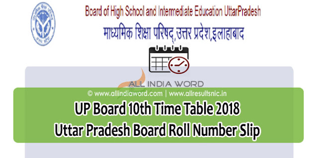 UP Board 10th Class Time Table | UP Board Class XII Exam Time Table upmsp.edu.in | UP Higschool Date Sheet Released