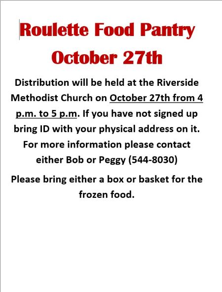 10-27 Roulette Food Pantry