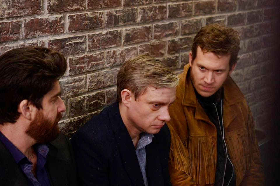 Martin Freeman, Adam Goldberg and Russell Harvard as Lester Nygaard, Mr Numbers and Mr Wrench in FX Fargo Season 1 Episode 5 The Six Ungraspables