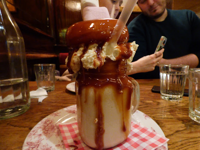 Salted caramel donut freakshake at Maxwell's Covent Garden, London