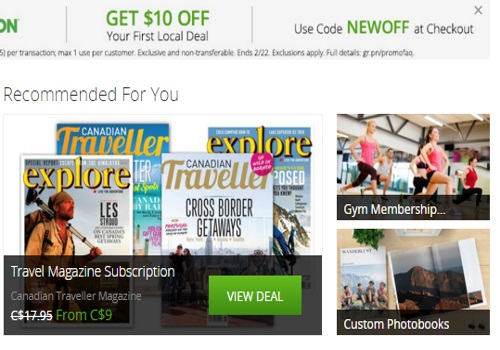 Groupon $10 Off First Local Deal Promo Code
