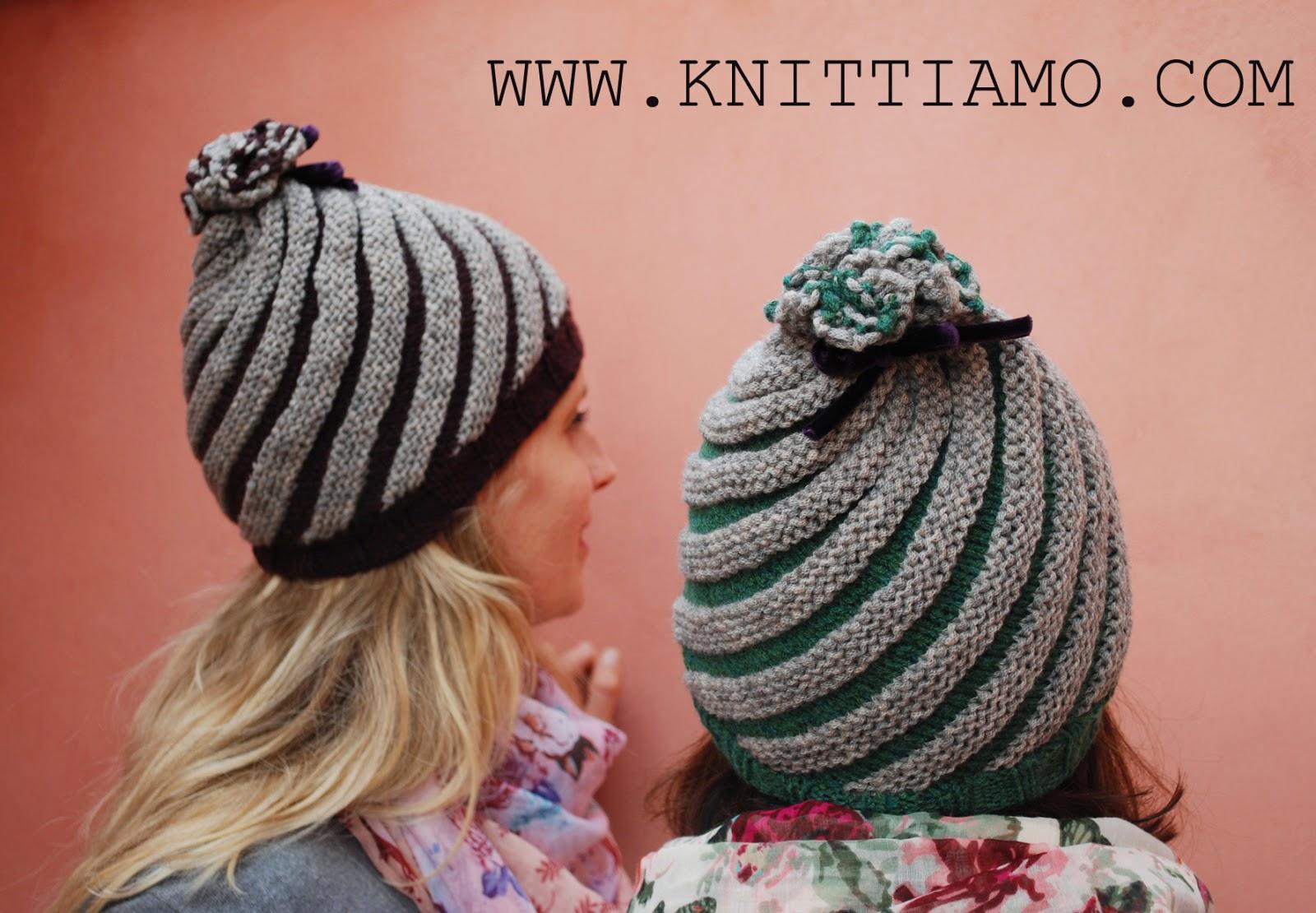 Favoloso Knittiamo con Martina e Roberta: Cappello a spirale ai ferri EM91
