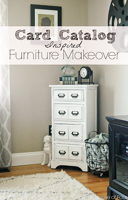 painted furniture makeover, painted furniture, chalk paint, card catalog