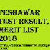 Agriculture University Peshawar Test Result | Merit List 2018