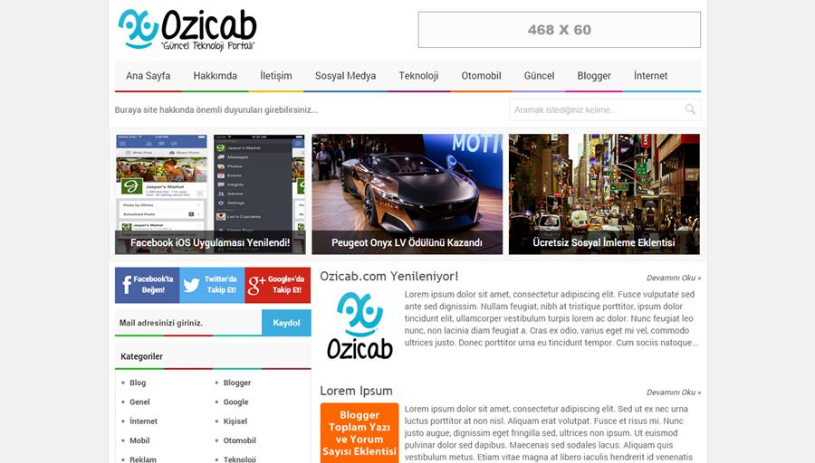 Blogzi Blogger Teması