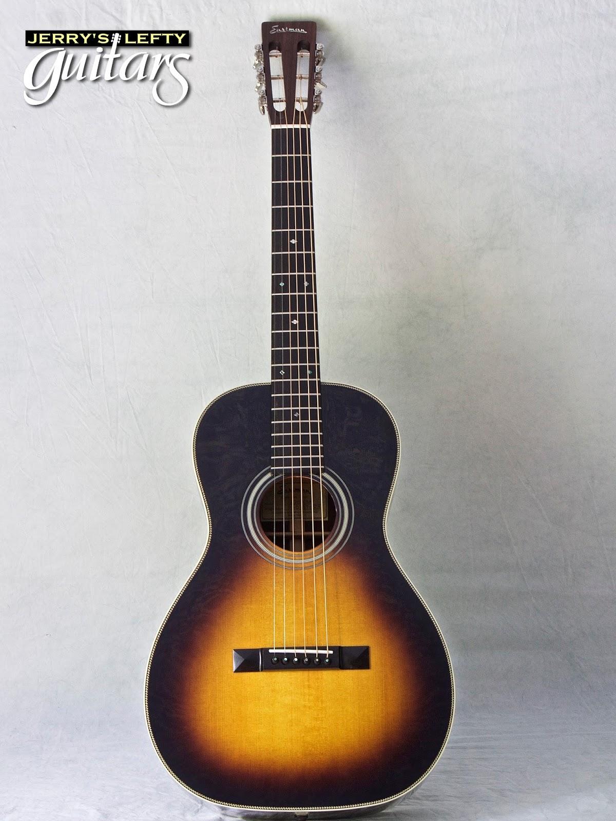 jerry 39 s lefty guitars newest guitar arrivals updated weekly eastman e20p sunburst left handed. Black Bedroom Furniture Sets. Home Design Ideas