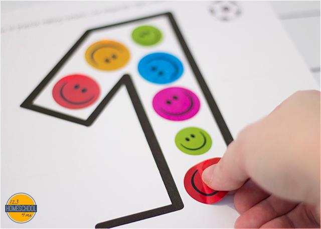 sticker worksheets for toddler, preschool and kindergarten number worksheets