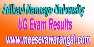 Adikavi Nannaya University UG Exam Results 2016