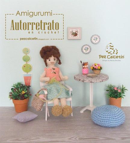 """""""amigurumi: retrato crochet"""" """"pez calcetin""""  """"lana-terapia"""" """"bienestar"""""""