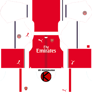 Arsenal Kits 2016/2017 - Dream League Soccer 2016