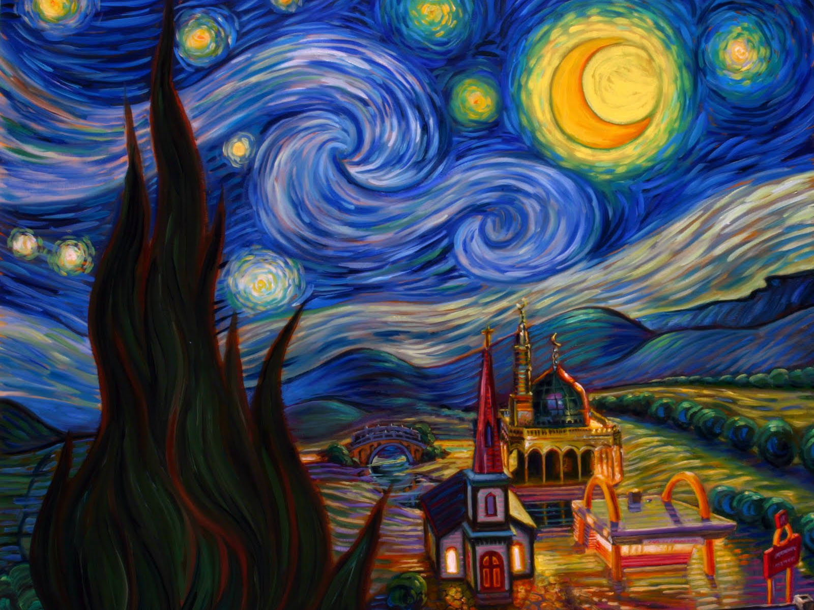 Free Wallpapers Of Cars And Bikes For Desktop Wallpapers Van Goghs Starry Night