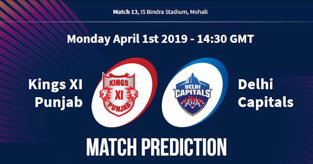 VIVO IPL 2019 Match 13 KXIP vs DC Match Prediction, Probable Playing XI Who Will Win
