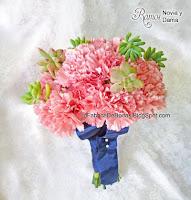 comprar venta Ramo de novia en guatemala rosado peony peonia suculentas y boda azul marino
