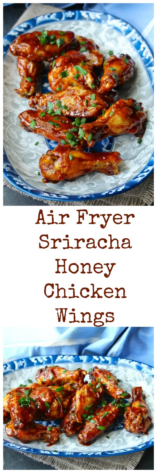 Air Fryer Sriracha-Honey Chicken Wings