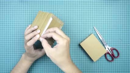 cara membuat kotak penyimpanan dari kardus