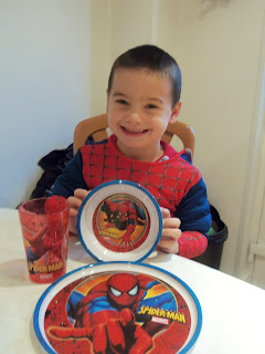Spiderman dinner set