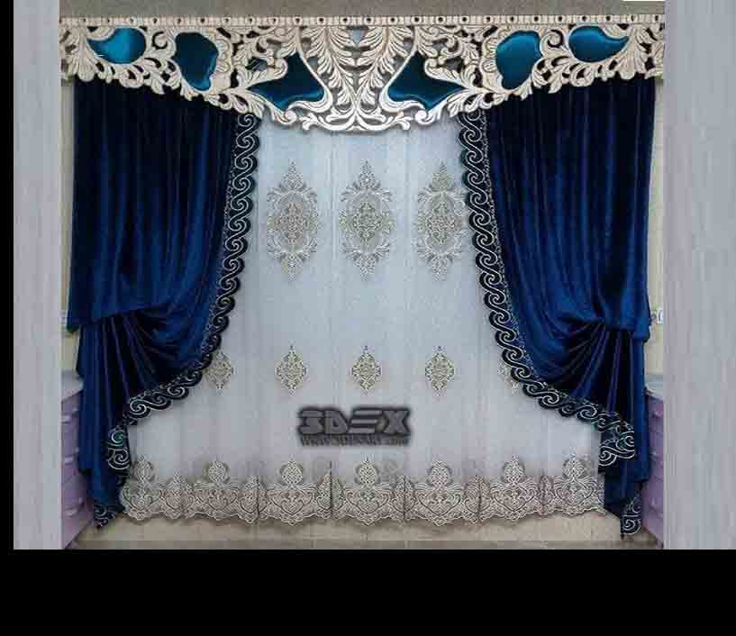 Bedroom curtain design 2018 bedroom 2018 for 3 window curtain design