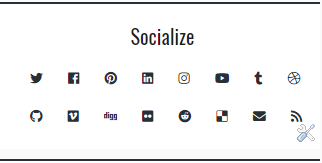 Social Widget - Octofuss Theme