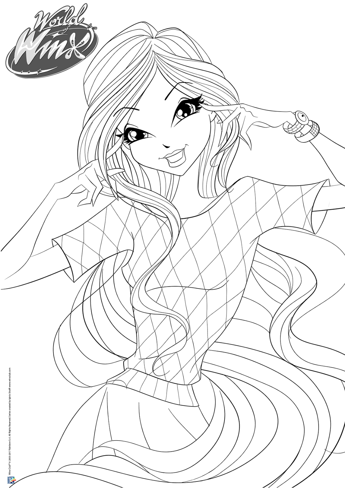 World Of Winx Coloring Pages Casual Outfit Winx Club All