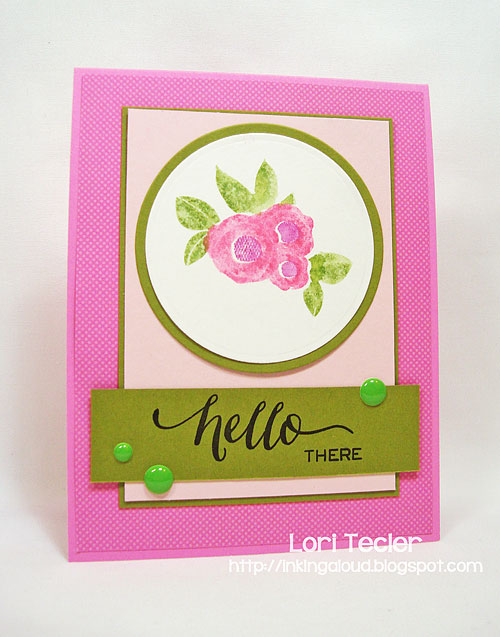 Hello There card-designed by Lori Tecler/Inking Aloud-stamps from WPlus9