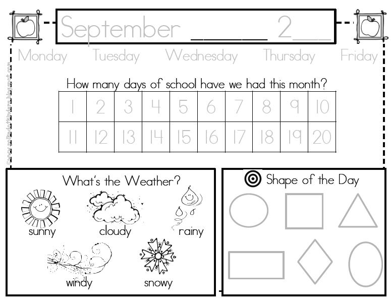 Polka Dot Kinders: Calendar Boredom Solution & Let's Get
