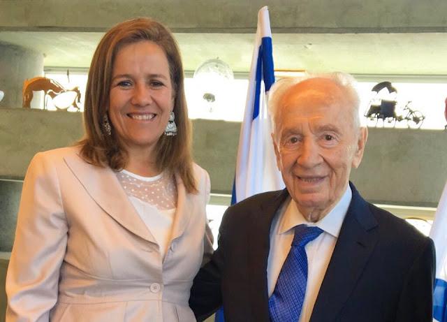 Horas antes del accidente Shimon Peres grabó un vídeo