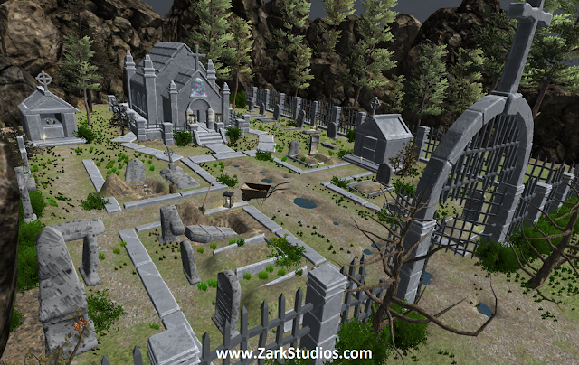 Scene Build – The Graveyard (FREE Assets Only)