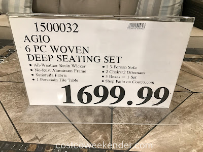Deal for the Agio 6-piece Woven Deep Seating Set at Costco