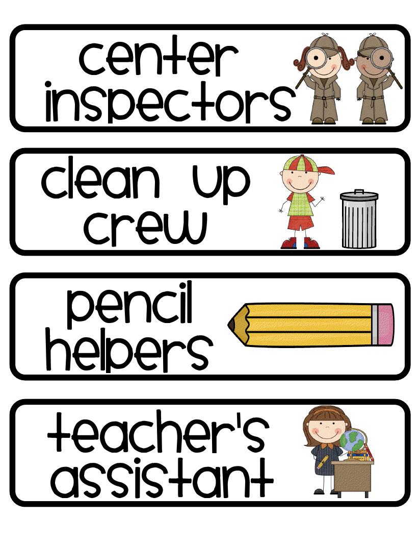 Classroom Jobs   Crazy for First Grade