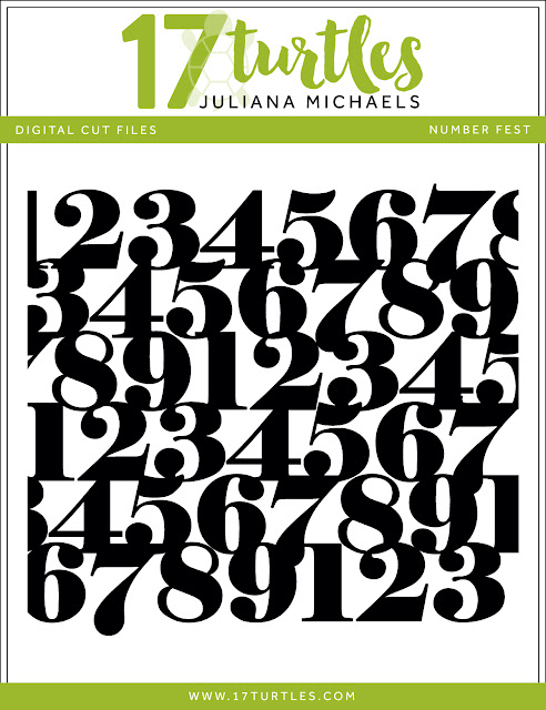 Numbers Fest Free Digital Cut File by Juliana Michaels 17turtles.com