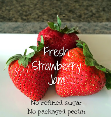 Fresh Strawberry jam no sugar no pectin