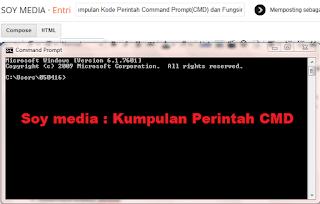 Kumpulan Kode Perintah Command Prompt(CMD) dan Fungsinya