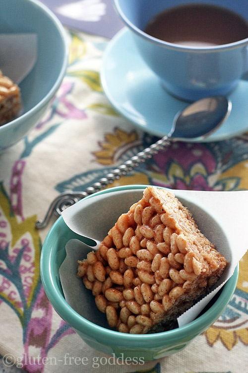 Karina's Gluten-Free Rice Crispy Treats recipe uses almond butter.