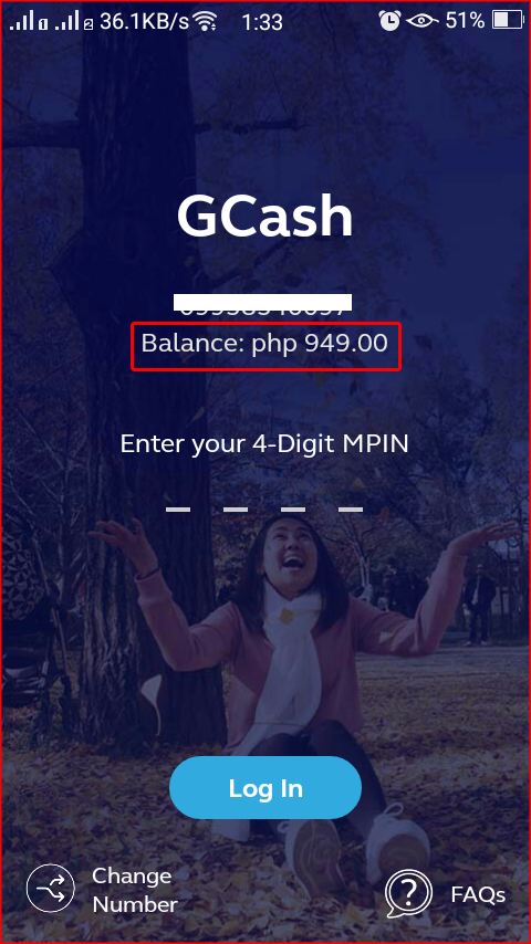GCash: How to see your Preview Balance on login page using GCash App