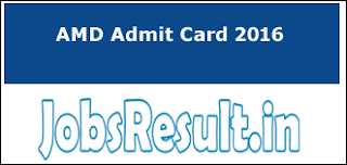 AMD Admit Card 2016
