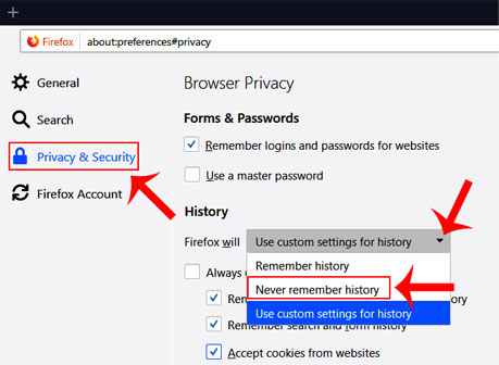 how to browser auto clear when you close the browser