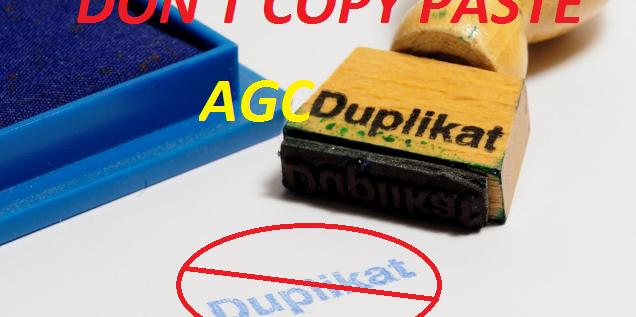 Cara Mencegah Artikel Blog DiAgc (Auto Generate Content)