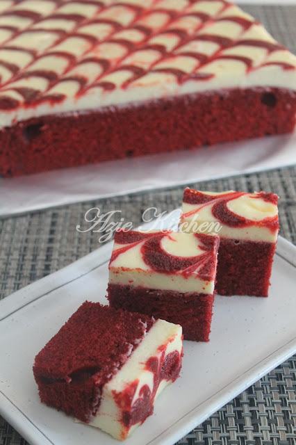 Red Velvet Cheese Brownies Azie Kitchen