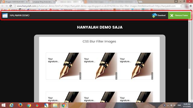Membuat Halaman Demo dengan Toolbar di Blogger