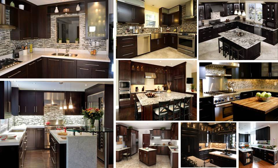 30 modern brown chocolate painting kitchen cabinets for Chocolate brown kitchen cabinets