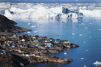 Greenland's melting ice has driven sea levels higher than previously thought, a study says. (Credit: Getty Images) Click to Enlarge.