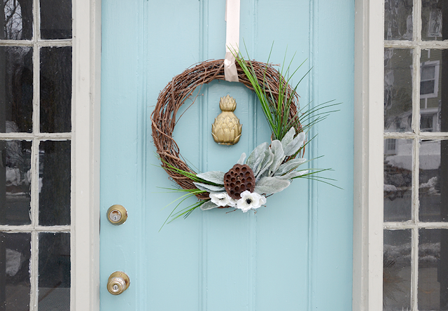 Colorful Front Door Makeover and Tutorial With DecoArt Curb Appeal Paint