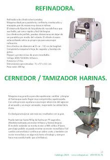 Refinadora cilindros horizontales, Cernedor ó Tamizador Harinas.