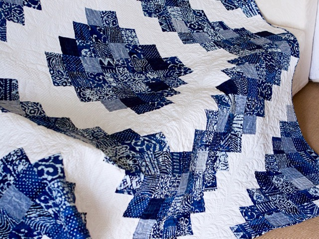 Chicago Blue and White Batik Quilt | Quilting Stories : batik patchwork quilt - Adamdwight.com