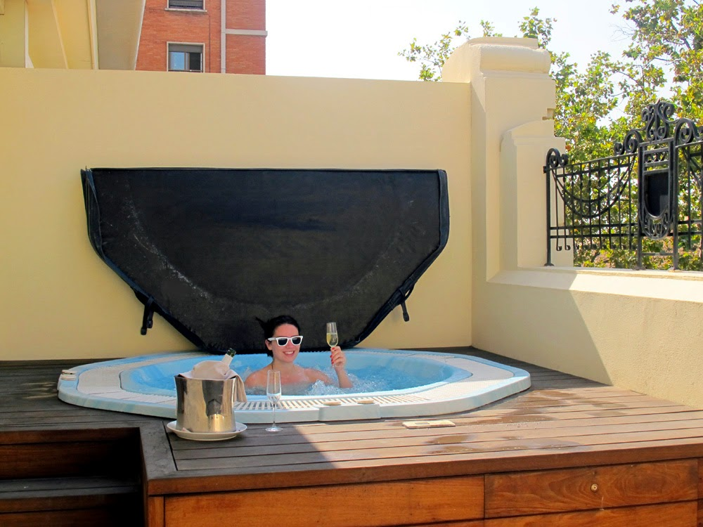 The Westin Valencia private jacuzzi
