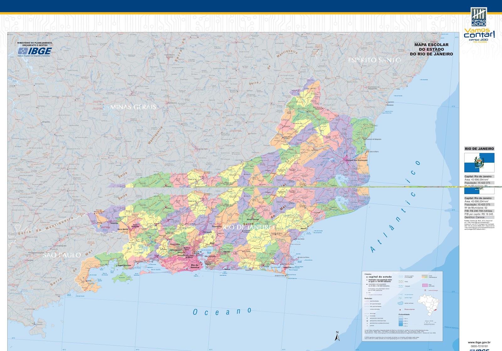 Rio de Janeiro | Mapas Geográficos do Rio de Janeiro