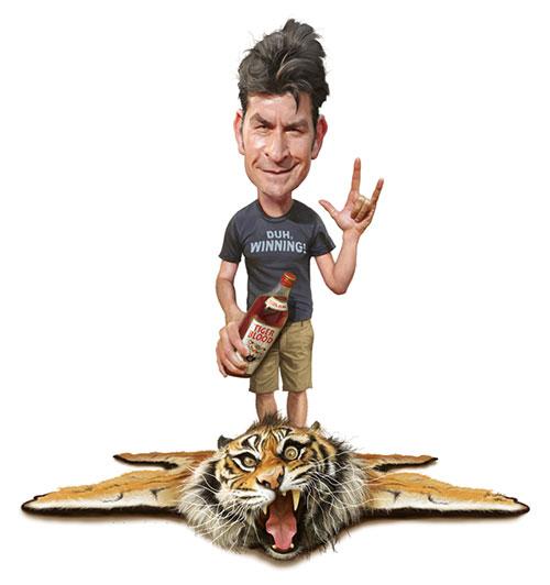 """""""Charlie Sheen"""" por Jason Seiller"""
