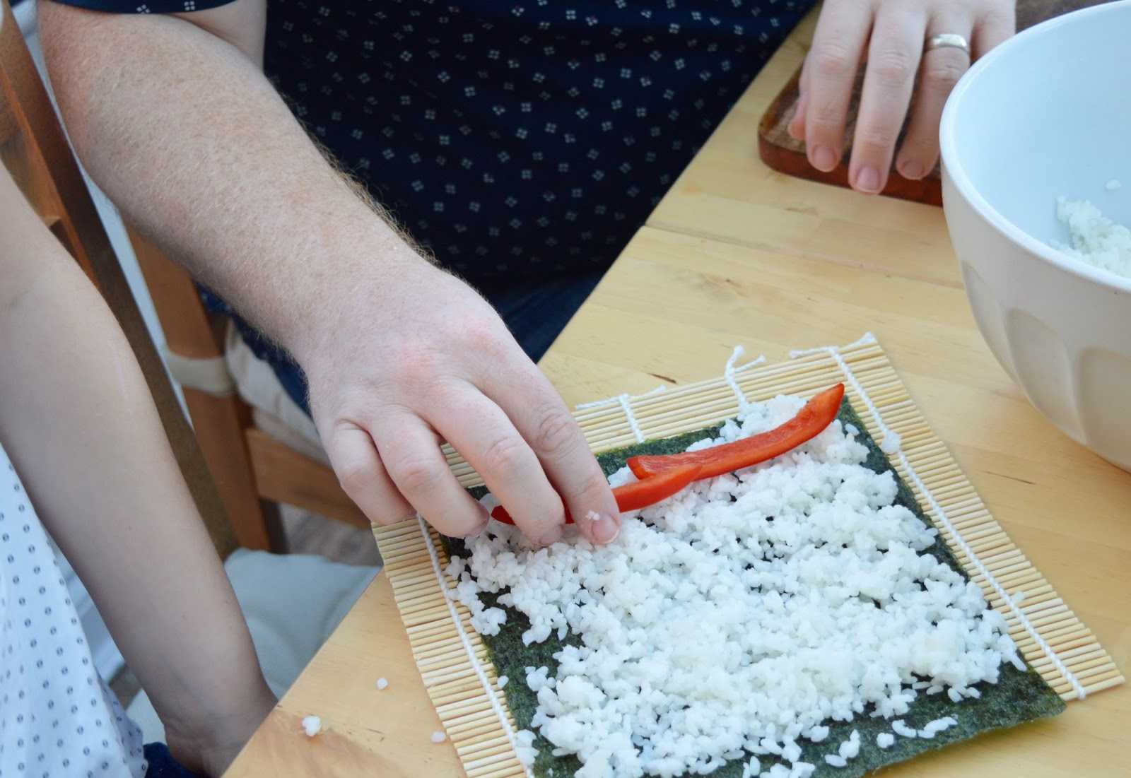 Sushi Making With Kids - A Tutorial for Beginners with Yutaka - pepper sushi