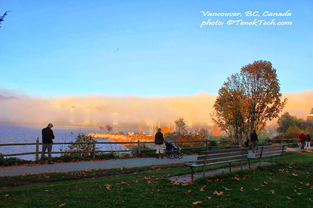 Living Vancouver Canada Covered In Blanket Of Fog