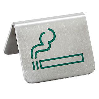 Semn pentru masa, fumatori, 2 parti vizibile realizat din otel cromat  - 52x(H)40 mm